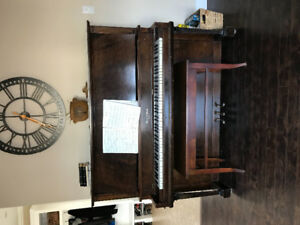 Mason and Risch Piano, includes bench seat