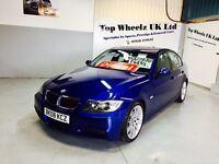 BMW 320D M SPORT, 2008 PLATE, 12 MONTHS MOT & FULL SERVICE HISTORY, LE MANS BLUE.