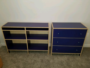 IKEA Bookshelf & Three Drawer Dresser