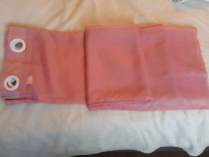 2 pink panel  curtains