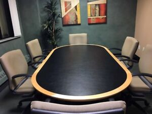 BOARDROOM TABLE & 6 MATCHING CHAIRS
