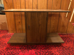 Wood stand wooden TV cupboard fishtank storage