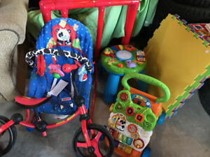 Garage sale..tons of baby boy clothes and toys and furniture etc