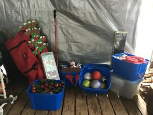 Outdoor Christmas lighting and decorations
