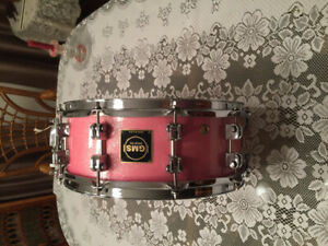 Very cool pink GMS snare drum $400.