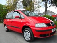 SEAT ALHAMBRA 1.9TDi 2004 7 SEATER COMPLETE WITH M.O.T HPI CLEAR INC WARRANTY