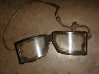 VTG Antique Safety Goggles Motorcycle Aviation Glasses Steampunk