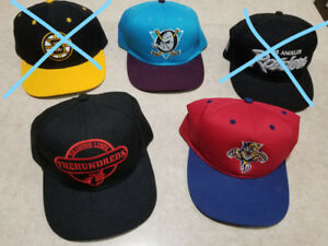 Snapbacks hats - NEW - 3 units (Florida Panthers, Mighty Ducks)