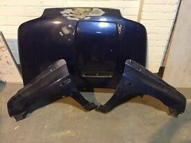 Original mk1 renault Clio Williams fibreglass bonnet and wings, Clio, Williams Clio, Clio cup,