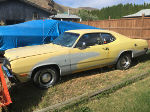 1974 Plymouth Duster Coupe (2 Door, Yellow)