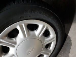 2012 Ford focus winter tires rims and caps in great condition