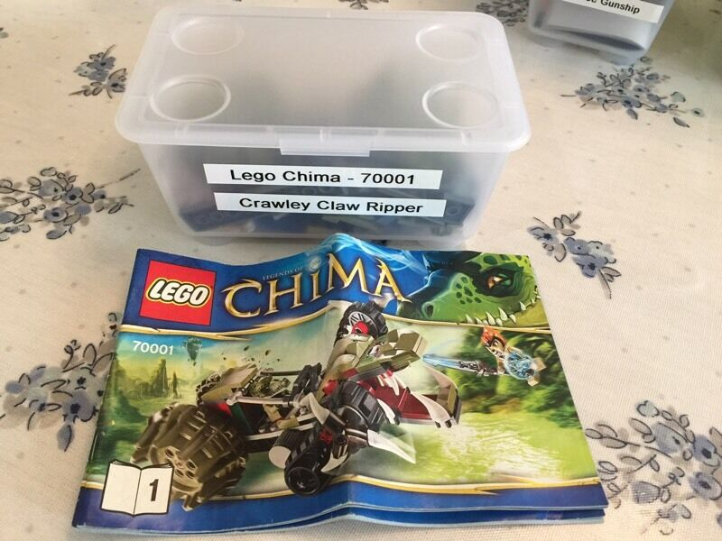 Lego Chima 70001 Full Set With Plastic Box And Instructions In