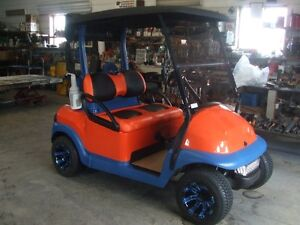 Custom golf car, electric golf cart, Club Car, used golf car