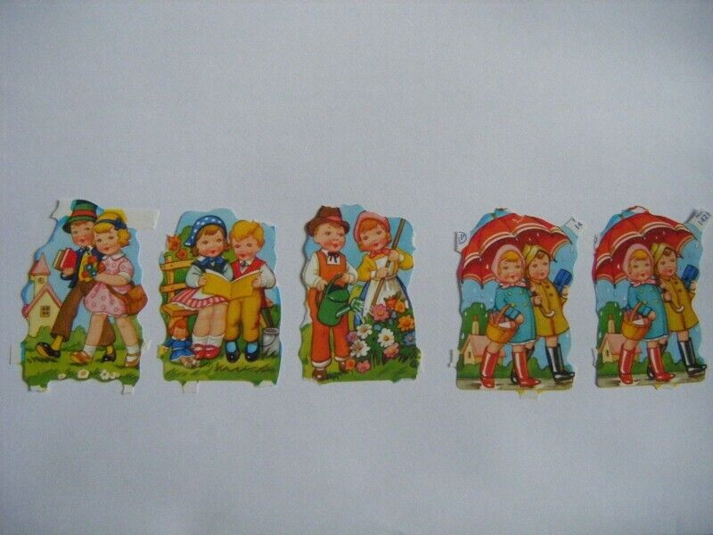 Vintage Embossed SCRAPS - Young Couples