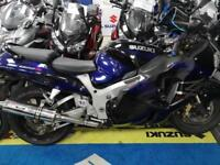 Suzuki GSX1300 R Hayabusa lots of service and MOT history fitted with Race Cans