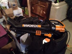 Worx blower great for the yard in great working condition 75$