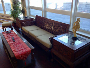 AmazinRare stunning collection of carved Asian antique furniture