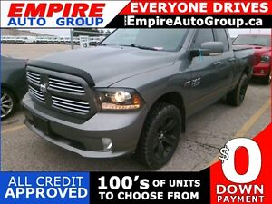 2013 RAM 1500 SPORT * 4WD * LEATHER/CLOTH * REAR CAM * BLUETOOTH