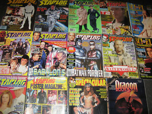 Various Science Fiction Magazines Starlog, SCI FI Entertainment