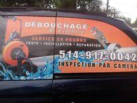 DEBOUCHAGE PLOMBIERCAMERA ODEUR RATS RACINE514-917-0042