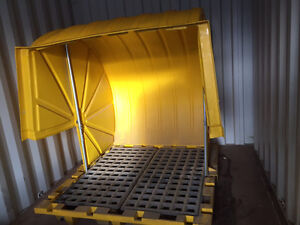 4 Barrel Covered Spill Container