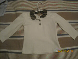 Girls Burberry top size 18M.