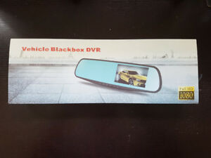 Vehicle Blackbox DVR Dash Cam Recorder with Rearview Capability