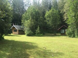 Dome Creek Riverfront Acreage with Cabins & Shops