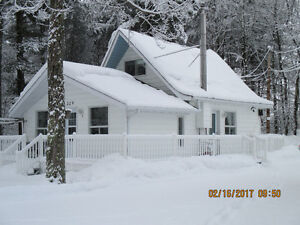 Joli cottage 2 étages;grand 3 et demi. très grand terrain.