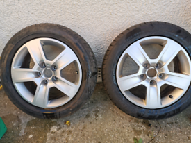 """Two 16"""" Audi A4 Alloys and Tyres"""