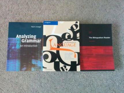 Linguistics Textbooks x 3 - MAKE AN OFFER Sydney City Inner Sydney Preview