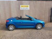 Peugeot 206 S Coupe Cabriolet 1.6 Manual Petrol Blue 2 Door Convertible 2002