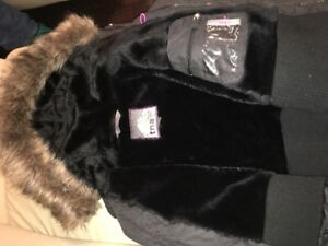 TNA short black parka for sale