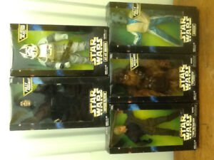 "Star Wars Greedo,Luke.Emperor,At-At Driver,Chewbacca 12"" Figures"