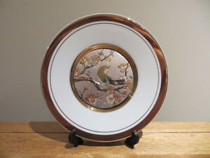 Collectible Chokin Plate with Stand
