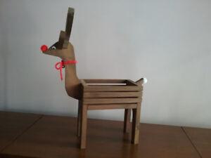Wooden Reindeer Decoration/CD Holder
