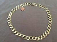 9ct gold curb chain heavy 156g