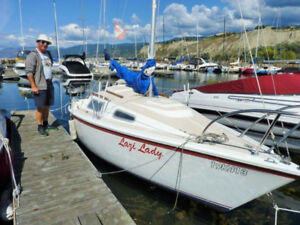 SAILBOAT WITH MOORAGE IN PENTICTON MARINA