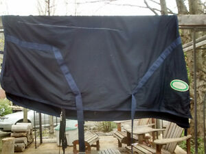 Stable blanket, fleece liner, and rain sheet