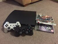 PS3 Slim 120GB, 5 Games, 2 Controllers