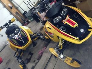 Parting out a few sleds zx and rev--709-597-5150--