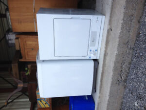 Almost new stackable washer and 110 electric dryer