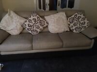 2 and 3 seater leather suite from scs