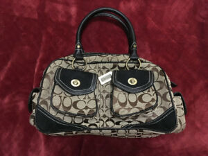 Coach Purse - Brown and Beige