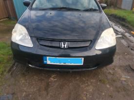 Honda Civic MK7 EP1 3 Door Petrol 1.4 Black Breaking For Parts