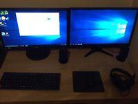 4K High spec Dual Monitor Gaming PC Set Up 16gb ram 80 plus gold psu