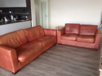 Leather sofas (sold as set or individually)
