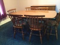 FOR SALE - TOGETHER OR SEPARATE - DINING ROOM TABLE & HUTCH