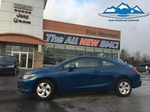 2013 Honda Civic Cpe LX  FUEL SAVER, CERTIFIED/ETESTED, WARRANTY