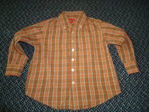 Boys Size 5 Long Sleeve Plaid Dress Shirt